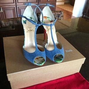 Blue Senora 100 Jeans Hawaii T Strap Sandals